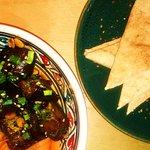 Bakłażan z Tel Avivu, szakszuka, pita i frytki z batatów :)