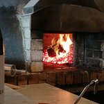 Wood fired oven, warm :)