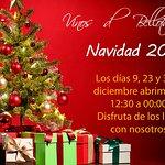 Navidad 2019. Abrimos los lunes 9, 23 y 30 de diciembre de 12:30 a 00:00h.