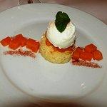11/28/2019 Casa Sena Dessert Pastel De Naranja - Candied butternut squash, greek yogurt sorbet (