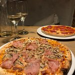 Pizza salame & pizza capriciosa