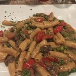 Pasta, Tomatoes and peas