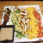 Cobb salad with dressing on the side