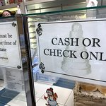 yep, cash or checks - no credit cards