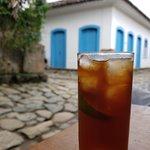 Chá gelado da fruta Café