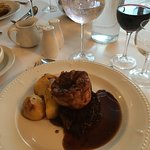 Braised Beef Feather blade,roast potatoes,Yorkshire pud & herb jus and a selection of winter veg