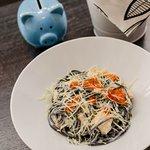 Вкуснейшие чёрные спагетти
