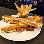 The BIG Cheese - house made foot long grilled cheese with 3 delicious gooey layers!