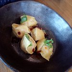 I'd read about these prawn, scallop, and chicken dumplings. They lived up to the hype.
