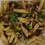 Pasta with mushrooms and basil - outstanding