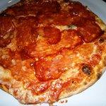 Die super leckere Pizza
