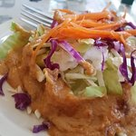 Salad with Peanut Sauce. That's their only dressing, but is surprisingly good on the salad. The