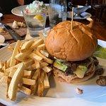 Wicklow Veggie Burger--Dubliner Cheese, Avocado, Sautéed Mushrooms & 1000 Island--Muldoon's Iris