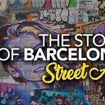 La historia de Barcelona .. Arte callejero!
