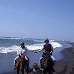 Groovy Horse Riding at Black Sand Beach and Explore Ubud Art Village
