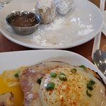 Eggs Benedict and Country Fried Potatoes are fabulous! So are the biscuit beignets!