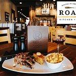 ROAM Kitchen + Bar - Slow Roasted Duroc Pork Shoulder with Corn Bread & Ancho-Honey Butter