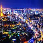 """Tokyo Night Private Tour with Transfer. """"Sky Deck of Roppongi Hils"""""""