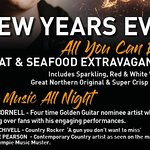 Celebrate NEW YEARS at CHOOFAS...!! Meat & Seafood Extravaganza. Live music all night. All you can eat with drinks included. 2 sittings 4.30 & 8 pm $150 pp Kids under 12 $25 Book now on our website www.choofas.com.au