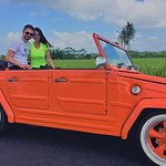 Bali Ubud Swing and Waterfall Tour with VW Cabriolet
