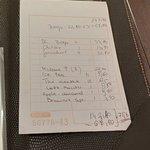 Ticket de caisse B34 avec le prix de nos Bongos passé à 22.50€ x 3