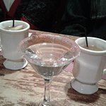 Mint-tini and hot spiced cider.