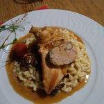 suprême de poulet et foie gras