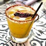 """The Smoking Gun"" - chili-infused Mezcal cocktail."