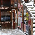The entrance to the Wapiti Pub.