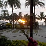 Sun setting from the veranda at Sitar restaurant