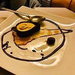 Lacrima di cioccolato con mousse alle castagne e salsa di cachi