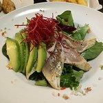 Avocado and seared Tuna Salad