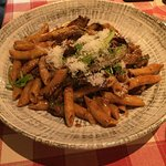 Pasta Agaton mushrooms and beef.