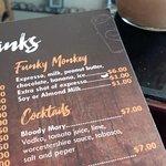 Funky Monkey iced coffee