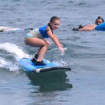 Beginner surf lesson for kids