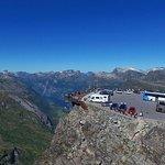 Geiranger Skywalk - Dalsnibba, Europe's highest fjordview 1500 m