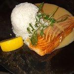 Pavé de saumon et riz