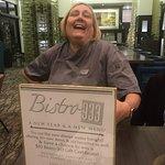 Our waitress Ingrid.