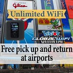 Japan 4G LTE Unlimited WiFi Hotspot Rental at Chubu Airport