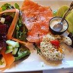 Petite salade de saumon fumé