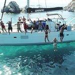纳克索斯和小基克拉泽斯附近的双体船游轮