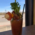 Bloody Mary my wife made from their Bloody Mary Bar. They bring the liquor and you make the drin