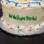 Hashtag Cake Side