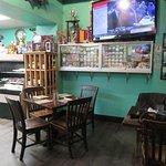 Inside smaller restaurant