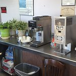 Fresh coffee and cappuccino machines