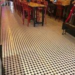Polka-dot flooring