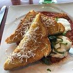 Chicken Parmesan with Garlic Bread