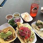 Carnitas, Fish, and quesadillas!