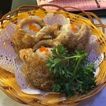 Fried Sweet potatoes with Scallop