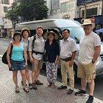 Notre groupe de 4 montréalais à Ho Chi Minh Ville avec guide, chauffeur et minibus.